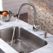 CUPC americano US Stainless Steel Undermount retangular Kitchen Sink com uma única tigela
