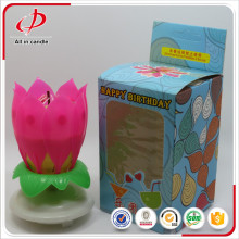 Fancy Lotus Opening Candle for Children Aniversário