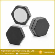 Предусмотрено Индивидуальное Шестигранник Из Нержавеющей Стали Мода Магнитный Серьги Ювелирные Изделия