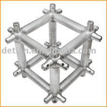 Multicubos, conector de treliça para sistema de treliça de acoplador cônico