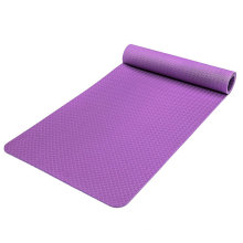 Personalize custom solid color non skid tpe yoga mat with logo printing
