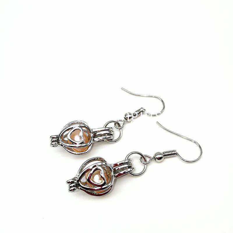 Locket Pearl Pendant Earrings