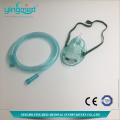 Máscara de oxigênio diposável com tubo