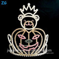 Fashion Crystal Halloween Bear And Pumpkins Crown, Pageant Crown For Halloween