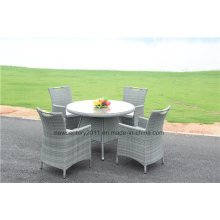 Outdoor Garden Wicker Rattan Dining Table Set and Chair