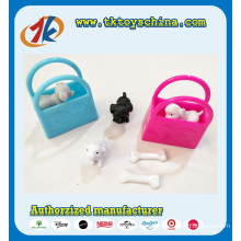 Funny Mini Plastic Puppy Toy with Colorful Bags