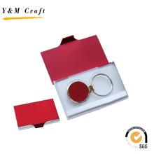 Venda quente Promoção Metal Chaveiro Cartão Titular Gift Set (M05011-2)