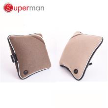 Coussin de siège de voiture de cuir et tissu de matière d'unité centrale comme vu sur le coussin vibrant de massage de dos de batterie sans fil de TV