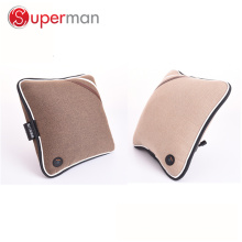 PU leather and fabric material car home seat cushion as seen on tv wireless battery operated vibrating back massage cushion