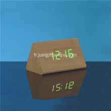 Horloge de table en bois promotionnelle à LED