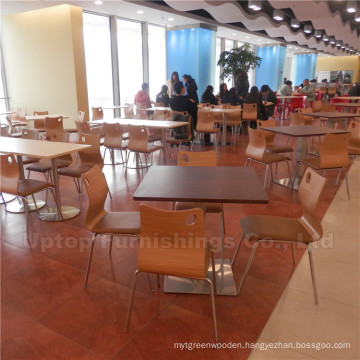Classic Commercial Fast Food Canteen Table and Chair (SP-CS262)