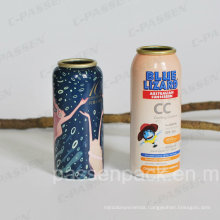 Aluminum Aerosol Bottle for Sunscreen Spray Packaging (PPC-AAC-033)