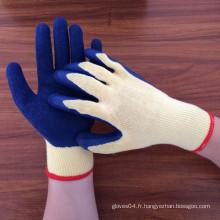 Gants de travail en polycoton 10 g revêtus de lame en latex mousse