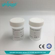 Recipiente de urina de 60 ml com tampa de rosca