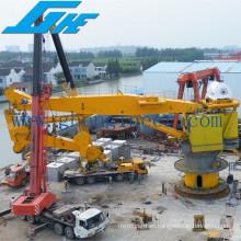 Elevación de la capacidad de elevación Hydraulic Knuckle Boom Offshore Crane