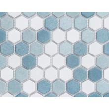 Decoración de piso de mosaico de vidrio