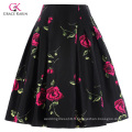Grace Karin Occident Vintage Retro 50s Jupe en coton à motifs floraux CL008925-10
