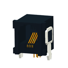 RJ11 JACK Side entry with metal legs 1x1P