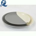 Fashion Custom Unique Design Food Grade Splicing Grey Ceramic Tableware