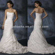 Strapless beading bodice mermaid wedding dress/evening gown