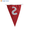 Custom happy birthday party paper banner or fabric bunting flag for decoration sale