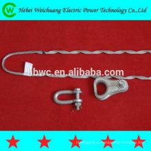 Alumínio de alta qualidade revestido com fio de aço ou galvanizado fio de aço tipo aperto beco sem saída direita direção para cabo ADSS