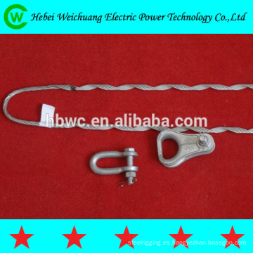 Aluminio de alta calidad revestido alambre de acero o galvanizado de alambre de acero tipo grip callejón mano derecha dirección para cable ADSS