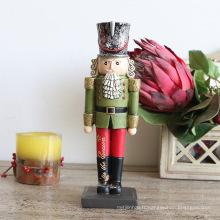 FQ marque en gros soldat en bois casse-noisette poupées poupées de Noël à la main