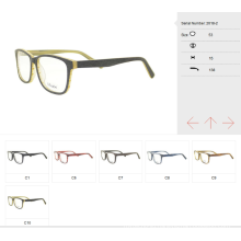wooden effect ready acetate optical frame