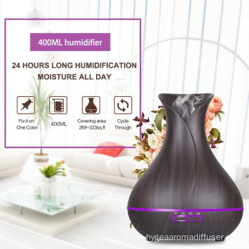 400ml Wood Ultrasonic Cool Mist Aroma Diffuser
