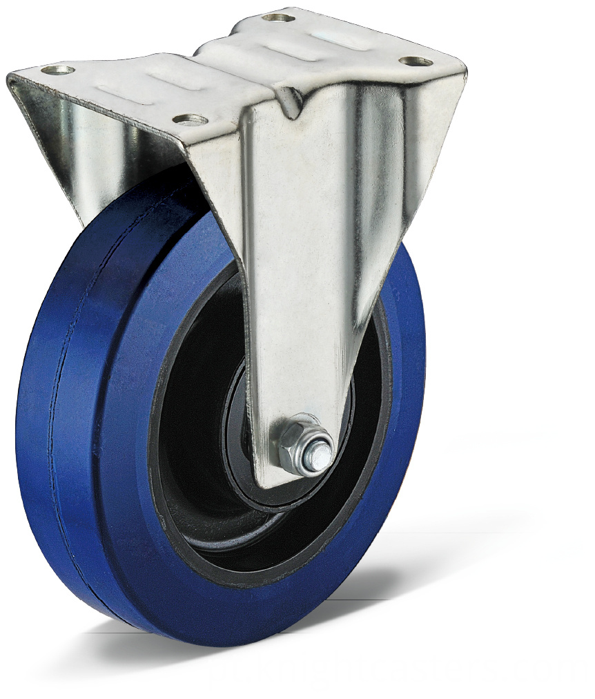Elastic Rubber Flat Bottom Fixed Casters