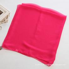 Frauen Mei Red Pure Farbe Polyester Chiffon Schal Schal