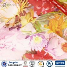 Набивная шелковая шифоновая цветочная печать