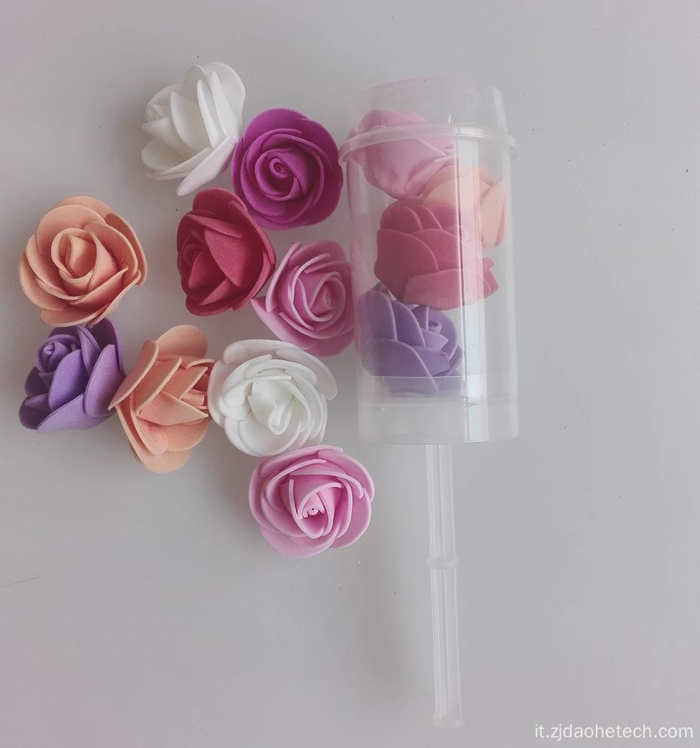 Rose Petal Push Pop Confetti per matrimonio