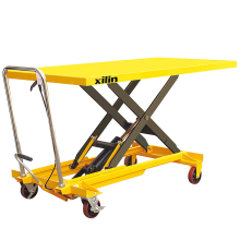 Xilin 500kg 0.5ton Extra Large Plate Manual Hydraulic Scissors Lift Table