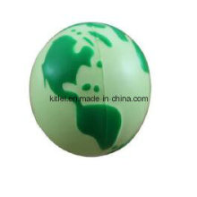 PU Foam Earth Shape Squeeze Sphere Globe Anti Stress Ball