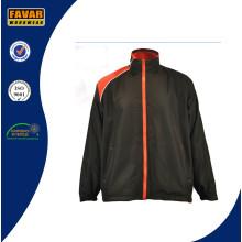 OEM новый дизайн водонепроницаемый ветрозащитный полиэстер темно синяя полоса корзина спорт мужчин куртка