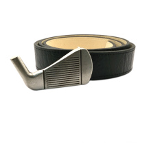 Golf Club Custom Real Leather Belt Metal Buckle