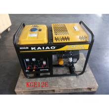 AC Single Phase 50Hz/10kw Key Start Open-Frame Gasoline Generator for Fame and Shop Use