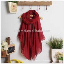 Tissus de châle abaya haute qualité couleur unie