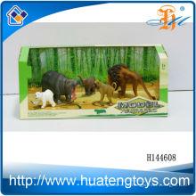 Buen regalo promocional de plástico 3d dinosaurios juguete conjunto de animales para niños para la venta H144528