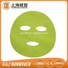 máscara facial não tecida folhas máscara de microfibra máscara colorida