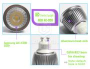 aluminum led spotlight housing COB no driver 240V AC SAA C-tick Samsung chip spotlight