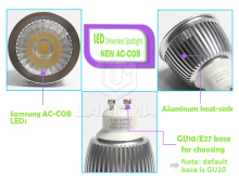 aluminum led spotlight housing COB no driver 240V AC SAA C-tick Samsung chip spotlight