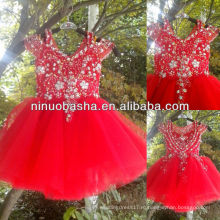 СЗ-423 благородные цветы из бисера Топ тюль юбка реальный образец платье девушки цветка