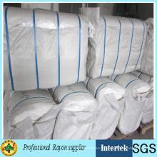 Tissu de coton gris fabriqué par l'homme fourni par le fabricant