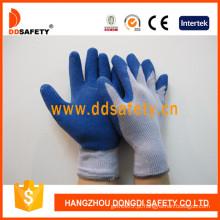 Ddsafety luvas de trabalho de malha de revestimento de látex azul (dkl329)