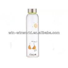 Regalo de promoción de oferta especial de producto caliente Botella de cristal de refresco portátil reutilizable grande