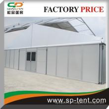 Tente de fête extérieure résistant au vent avec système de dance floor 15x50m pour 500 personnes en paroi solide