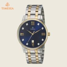 Men's Quartz relógio de aço inoxidável vestido, cor: Two Tone 72516